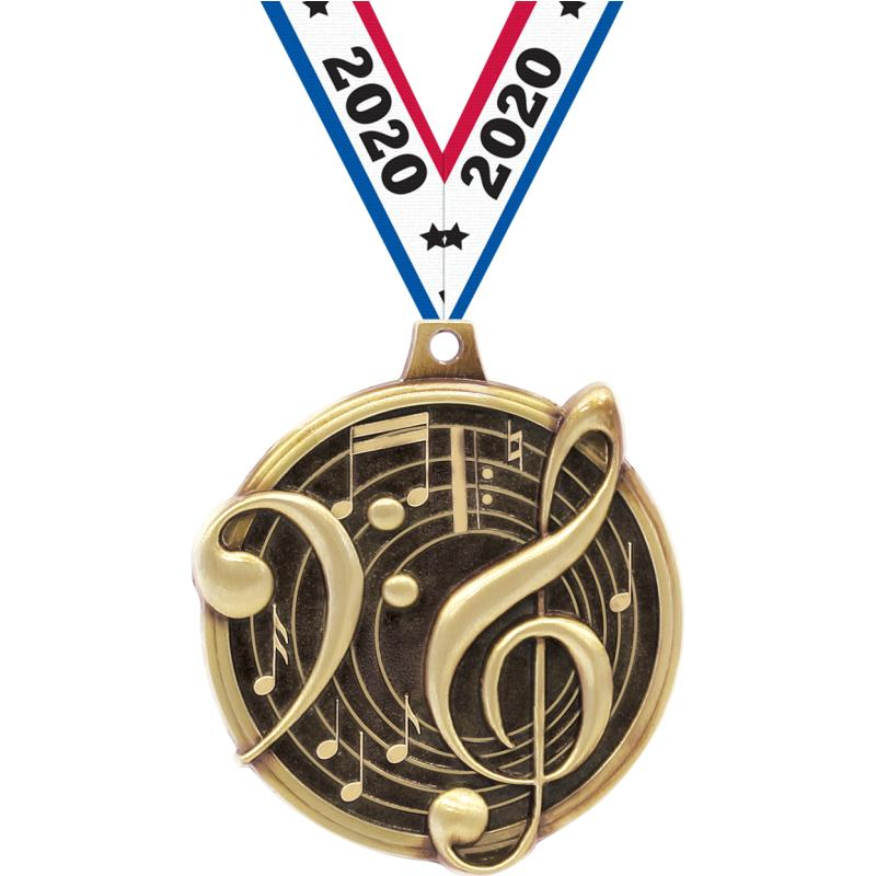 "2"" KUDOS MUSIC GOLD MDL"