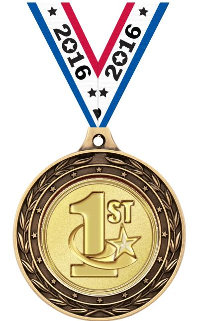 """2"""" Swimming Duo Medals"""