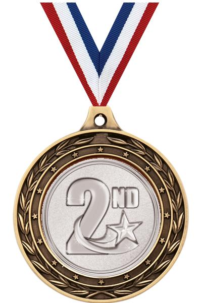 """2""""DUO FINISH INSERT MEDAL GLD"""