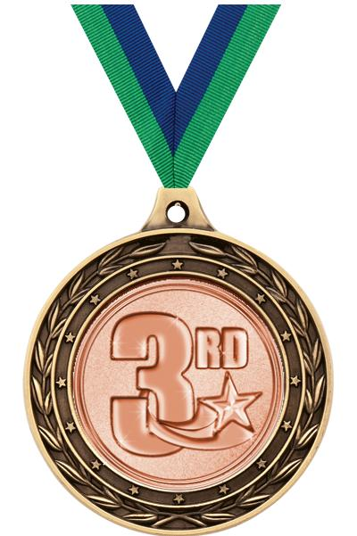 """2"""" 3rd Place Duo Medals"""