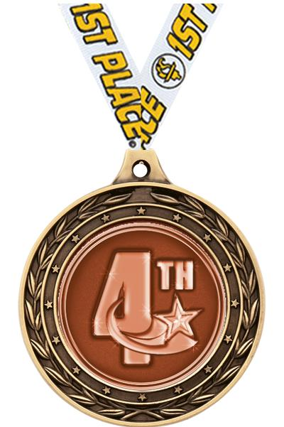 """2"""" 4th Place Duo Medals"""