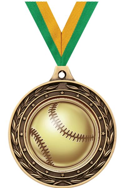 "2"" Baseball Duo Medals"