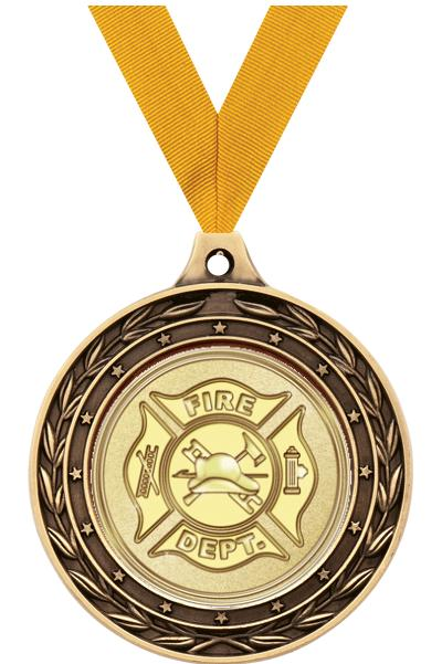 "2"" Fire/Medical Duo Medals"