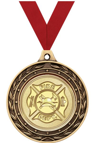 """2"""" Fire/Medical Duo Medals"""