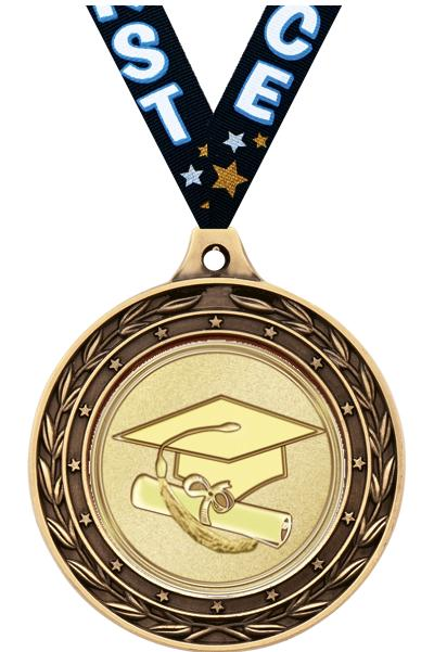 "2"" Graduation Duo Medals"