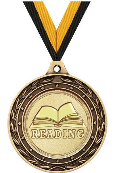 "2"" Reading Duo Medals"