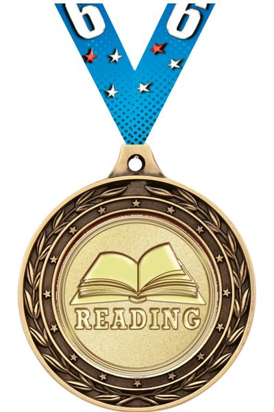 """2"""" Reading Duo Medals"""