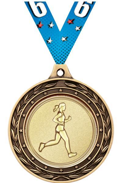 "2"" Running Duo Medals"