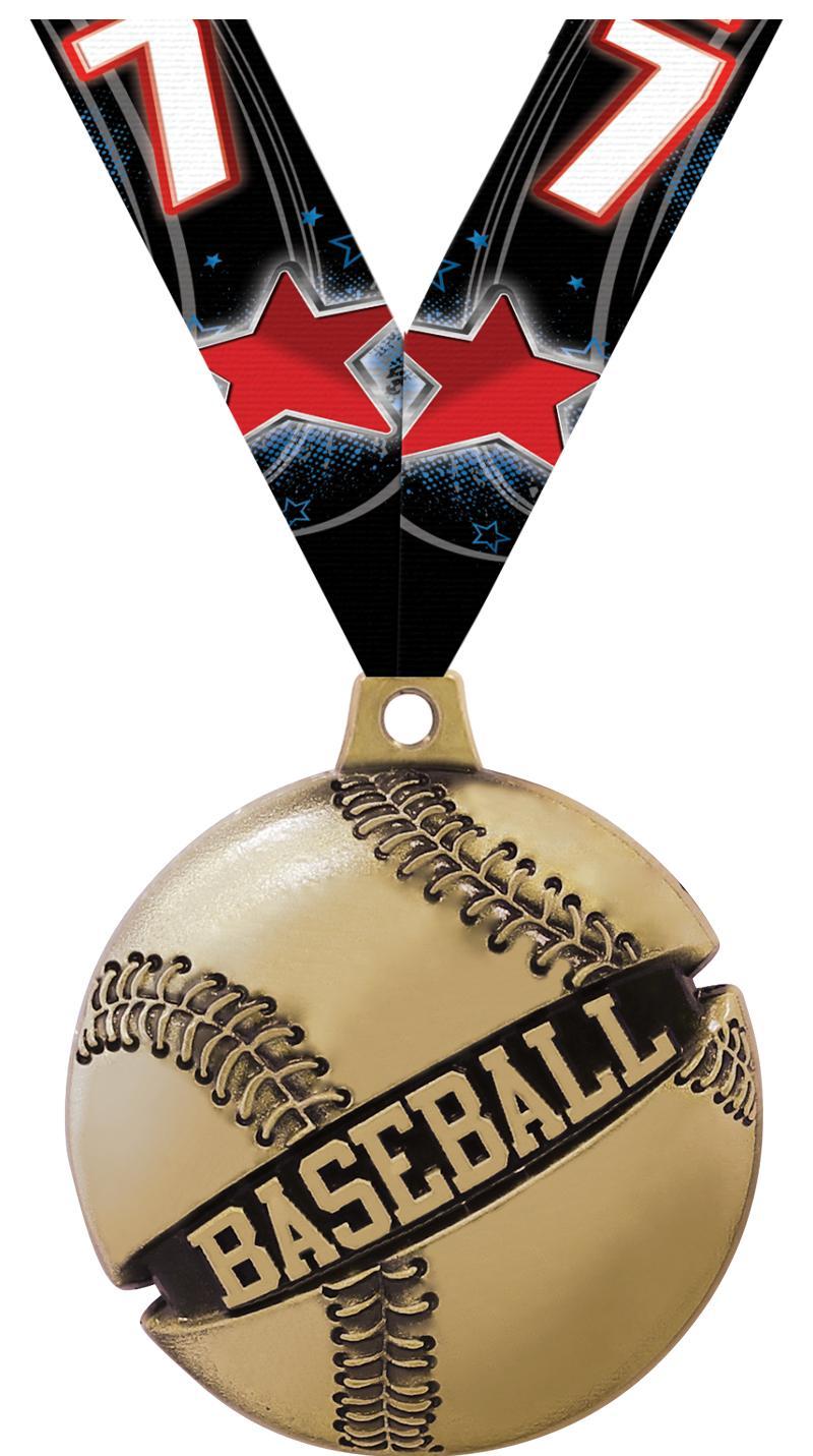 "1 3/4"" Baseball Galactic Medals"