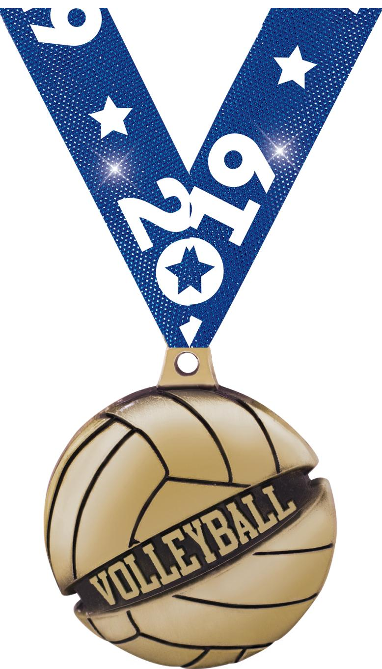 "1 3/4"" VOLLEYBALL GALACTIC GLD"