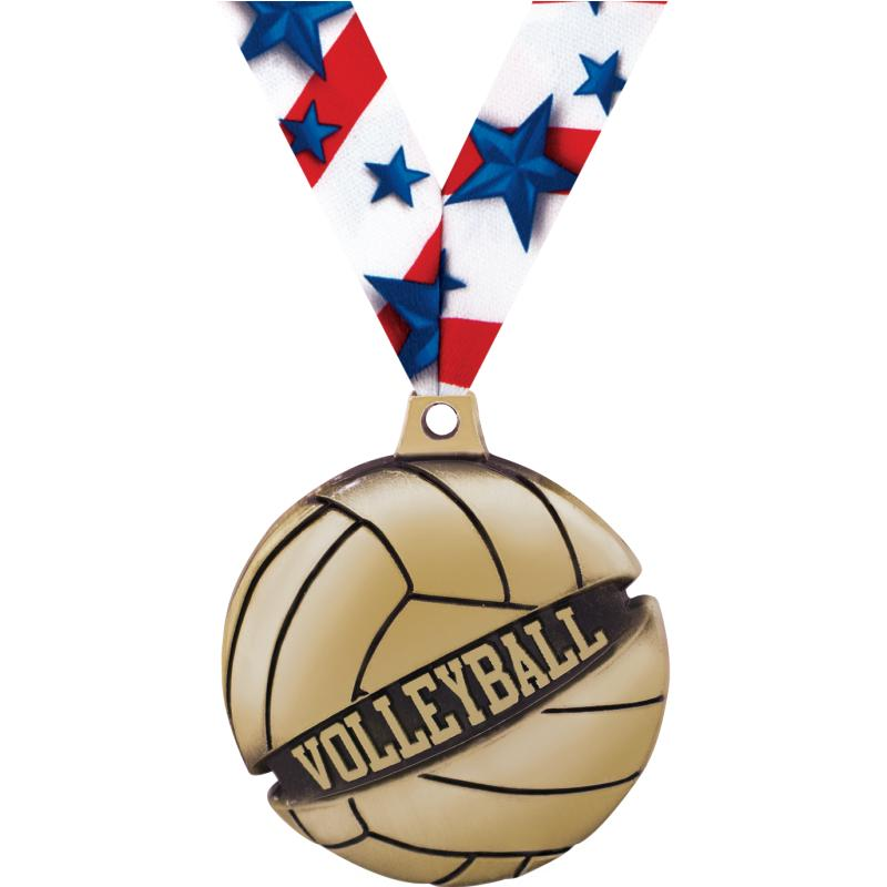 """1 3/4"""" VOLLEYBALL GALACTIC GLD"""