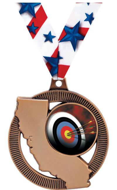 "2"" California State Medal"