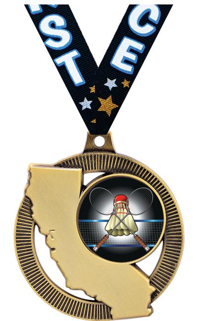 """2"""" CALIFORNIA INS MEDAL GOLD"""