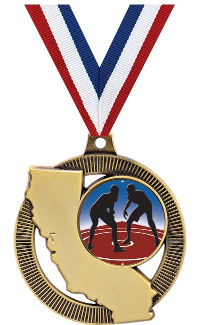 "2"" CALIFORNIA INS MEDAL GOLD"