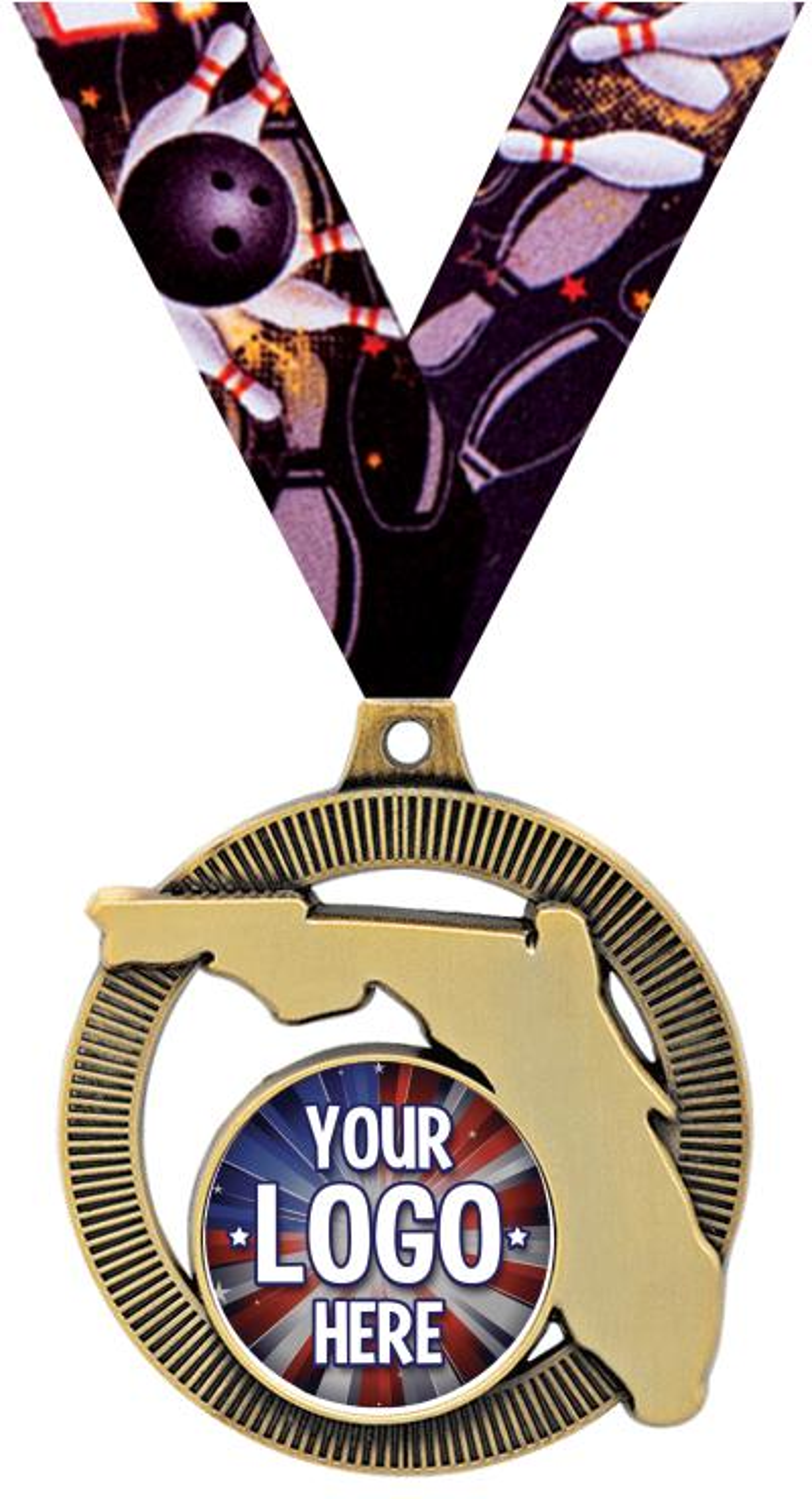 "2"" Florida State Insert Medal"