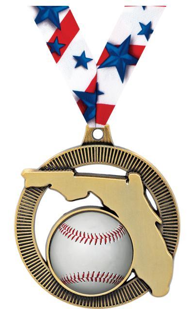 "2"" Florida State Medal"