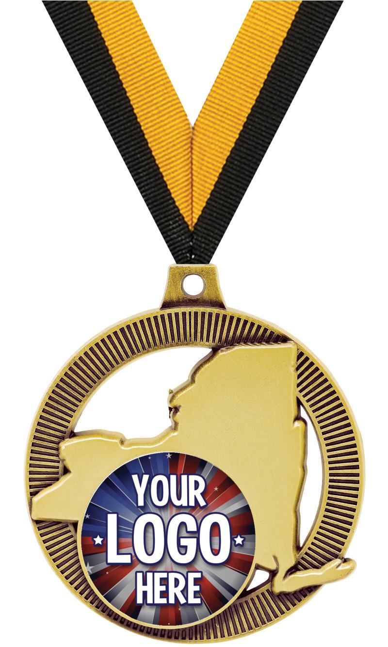 """2"""" New York State Insert Medal"""
