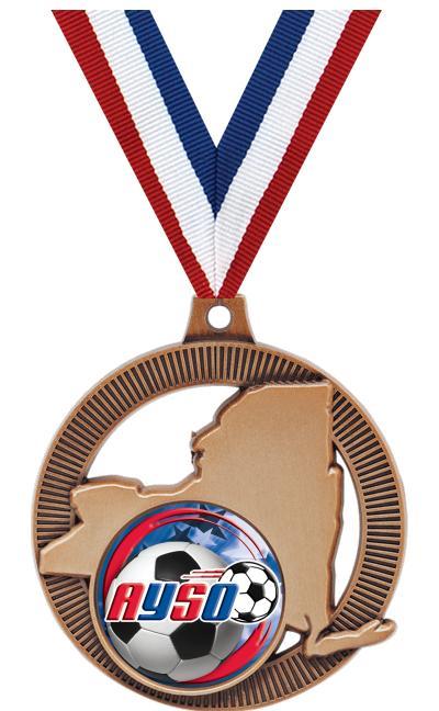 "2"" New York State Medal"