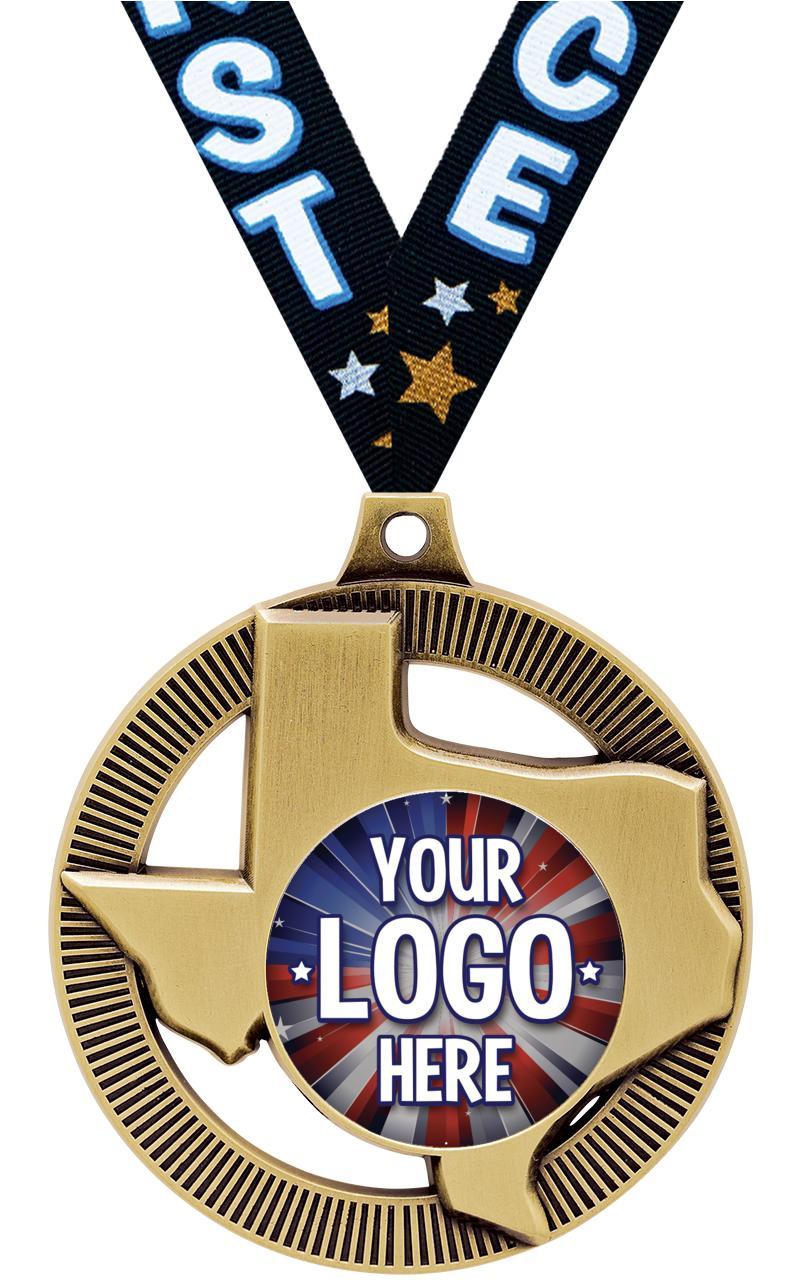 "2"" Texas State Insert Medal"