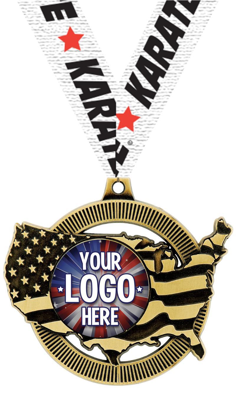 """2"""" United States Insert Medal"""