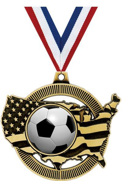 """2"""" USA INSERT MEDAL GOLD"""