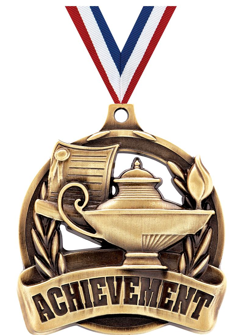"2"" ACHIEVEMENT MEDAL GOLD"