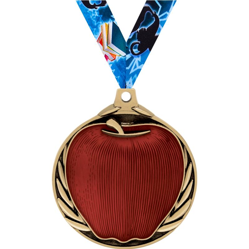 "2"" APPLE MEDAL GOLD"
