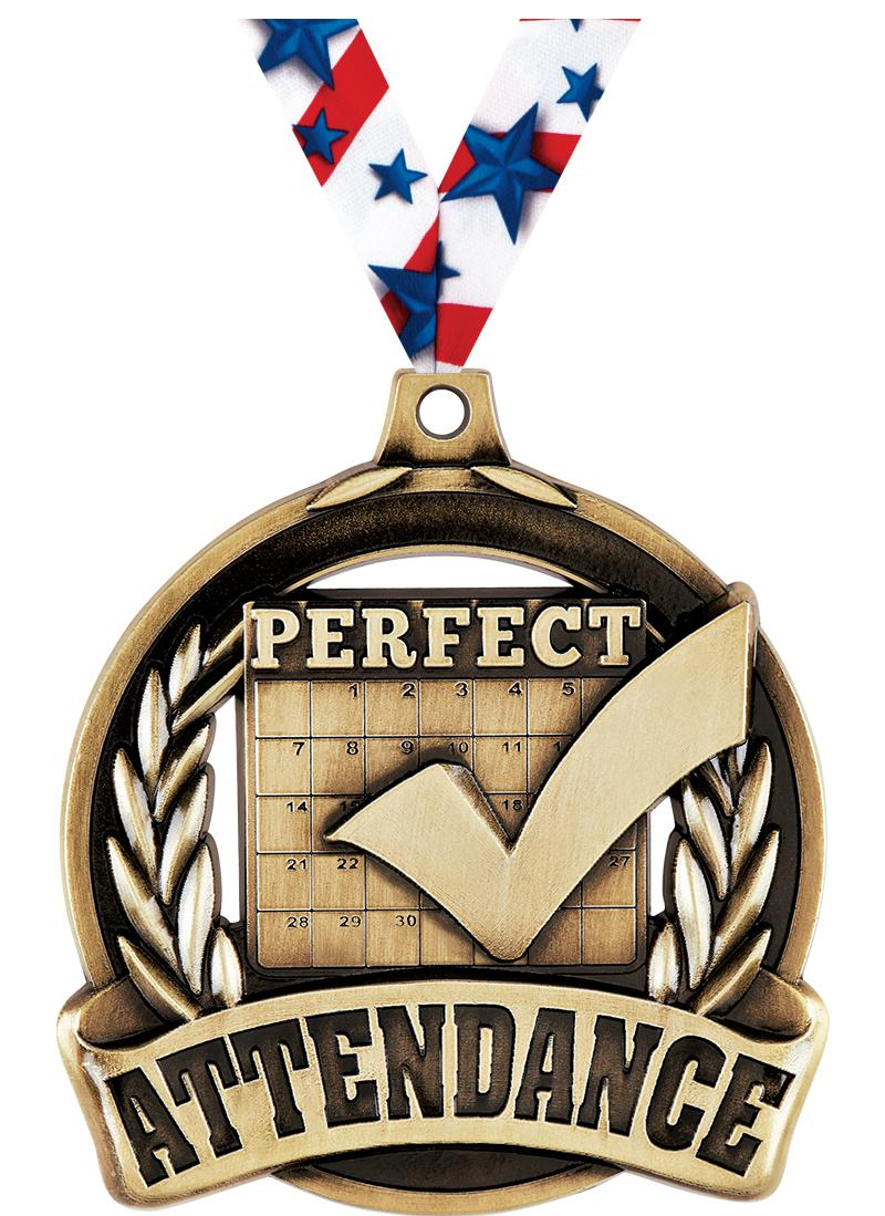 """2"""" Perfect Attendance Medal"""