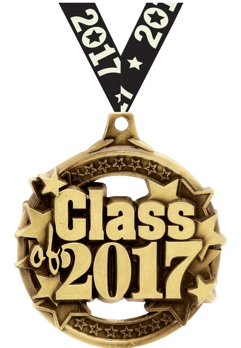 """2"""" Class Of 2017 Gold Medal"""