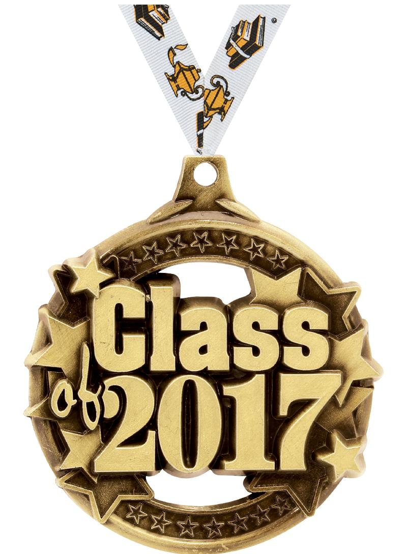 "2"" CLASS OF 2017 GOLD MEDAL"