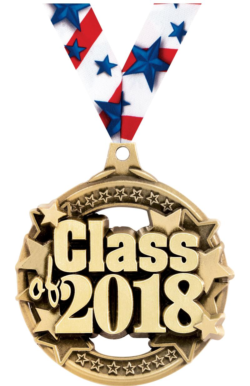 """2"""" CLASS OF 2018 GOLD MEDAL"""