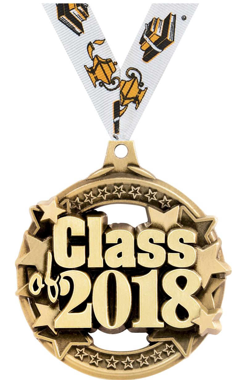 "2"" CLASS OF 2018 GOLD MEDAL"
