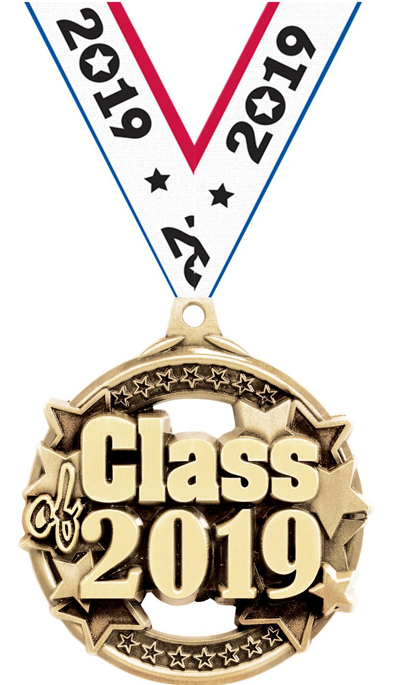 """2"""" CLASS OF 2019 GOLD MEDAL"""