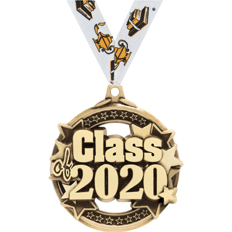 "2"" CLASS OF 2020 GOLD MEDAL"