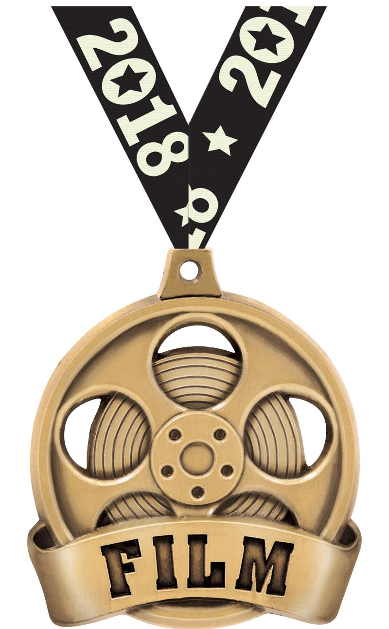"2"" FILM MEDAL GOLD"