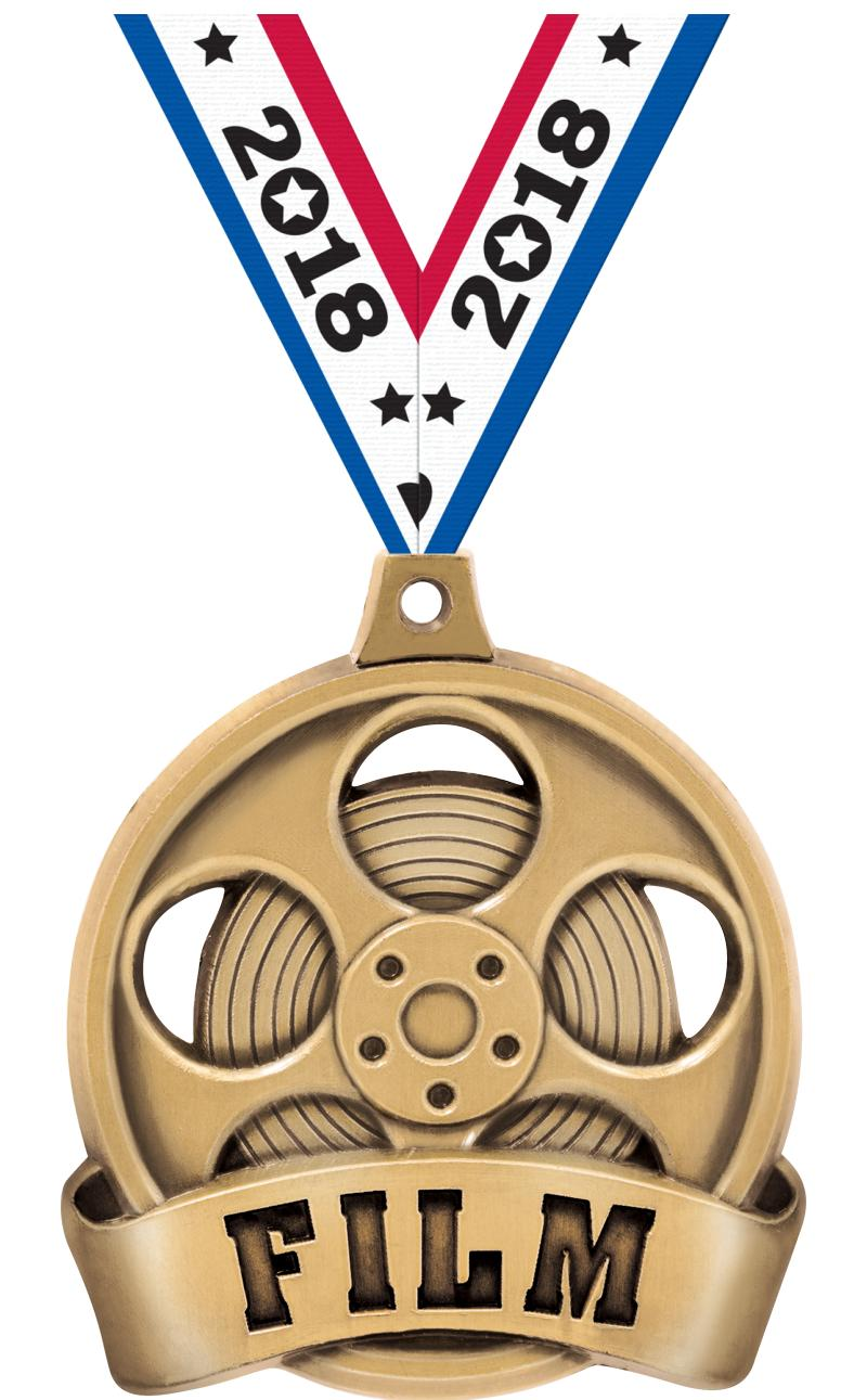"2"" FILM MEDAL GOLD"