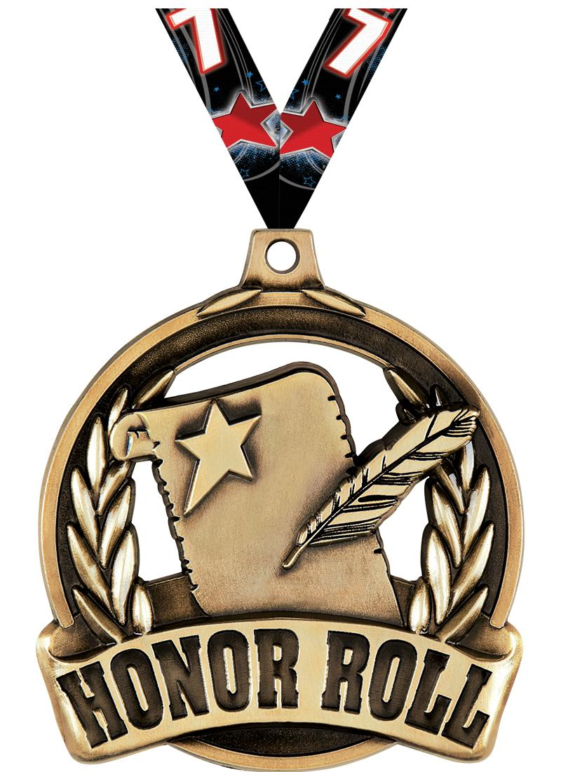 """2"""" Honor Roll Achievement Medal"""
