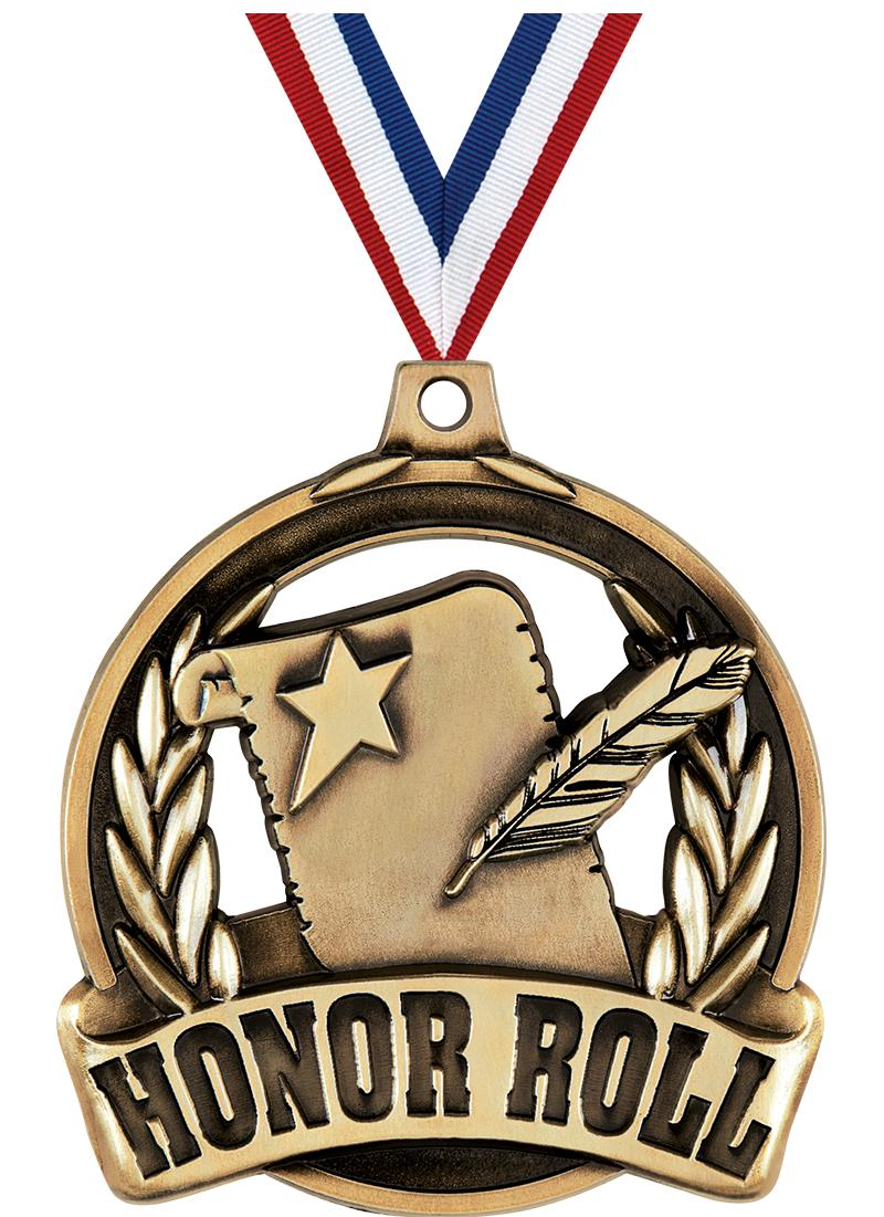 """2"""" HONOR ROLL MEDAL GOLD"""