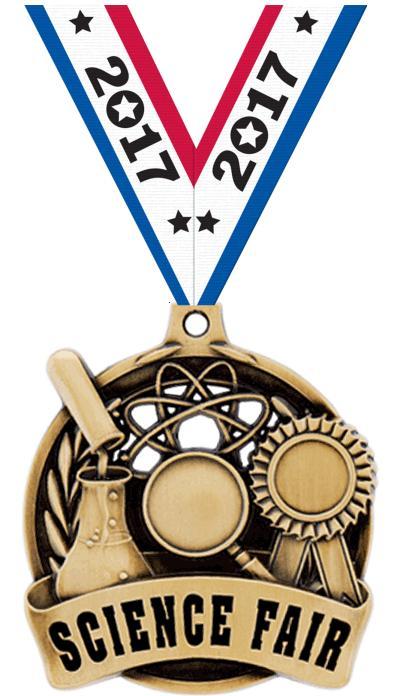 """2"""" Science Fair Medal"""