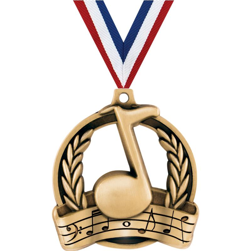 "2"" MUSIC MEDAL GOLD"