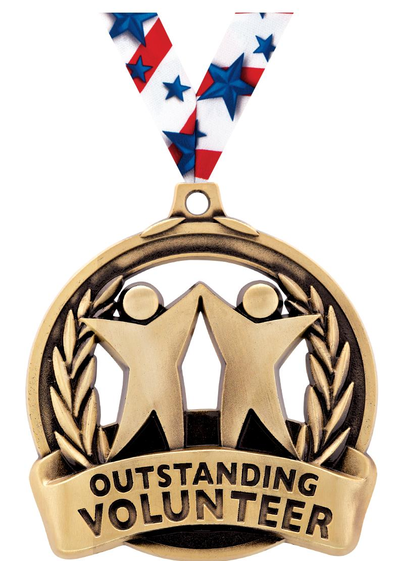 "2"" OUTSTANDING VOLUNTEER GOLD"