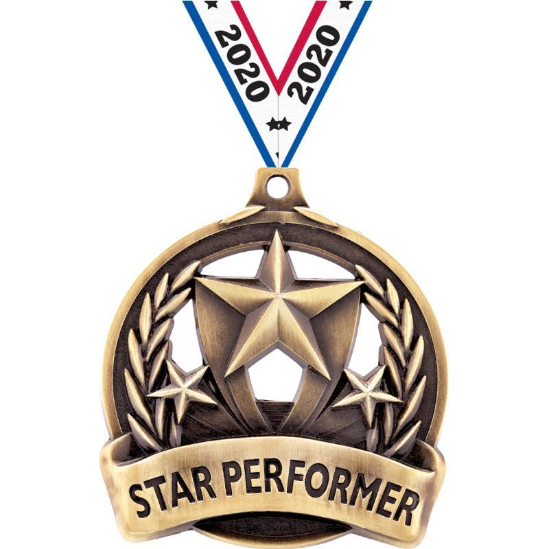 "2"" STAR PERFORMER MEDAL GOLD"