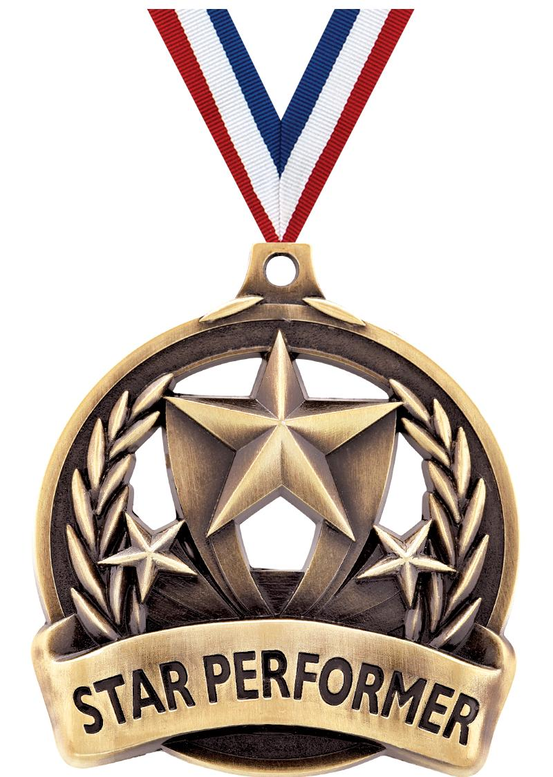 "2"" STAR PERFORMER MEDAL GOLD"