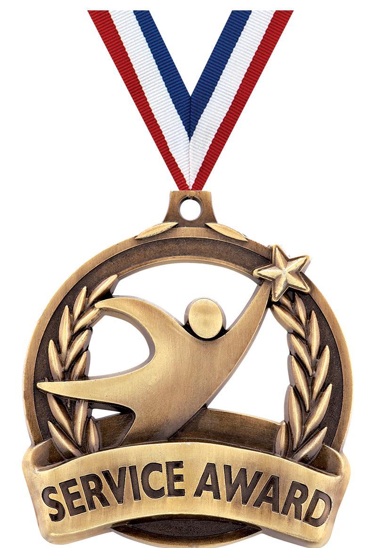 "2"" Service Award Medal"