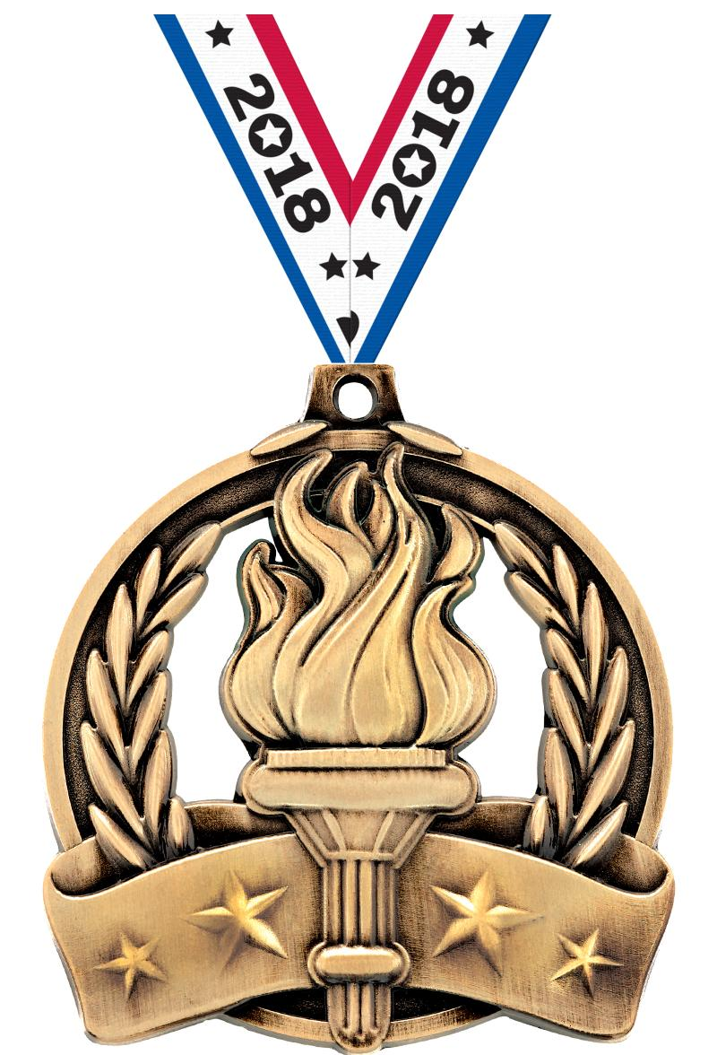 "2"" Torch Medal"