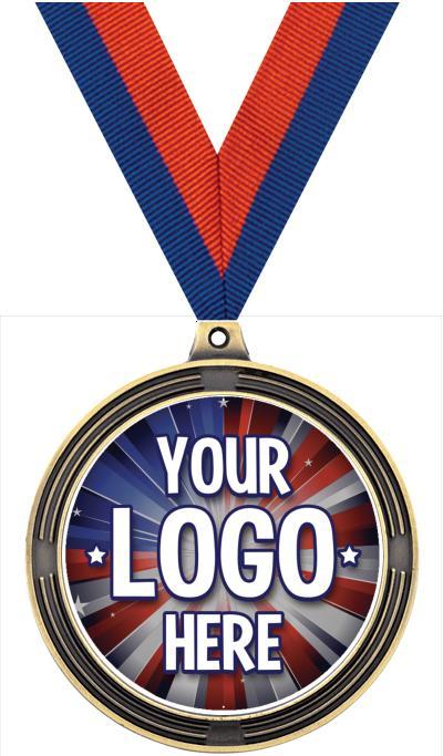 "2 1/2"" Ribbed Insert Medals"