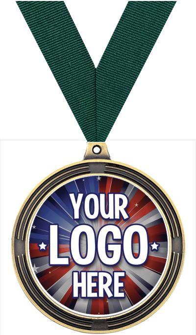 "2 1/2"" Ribbed Insert Medals"