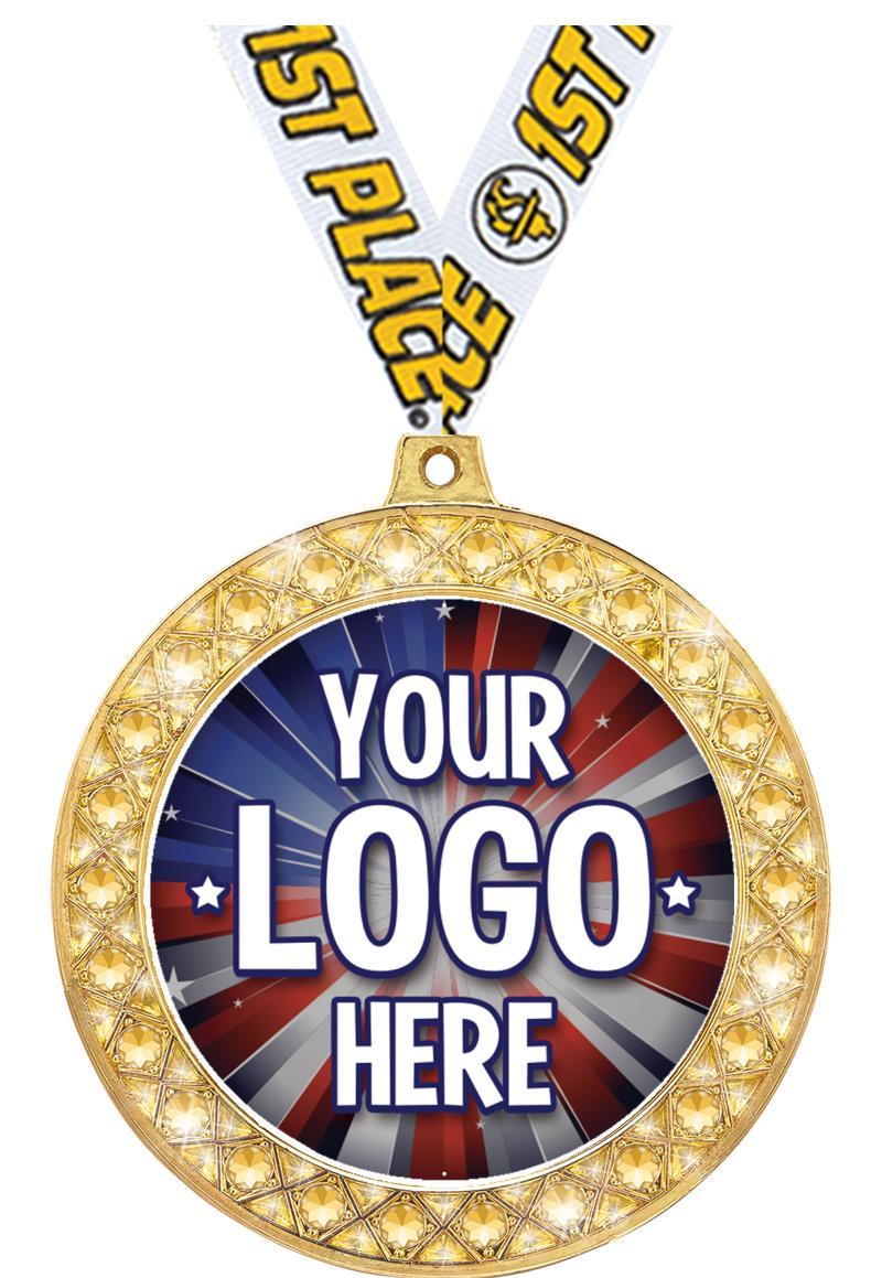 """2 1/2"""" Twinkler Insert Medal"""