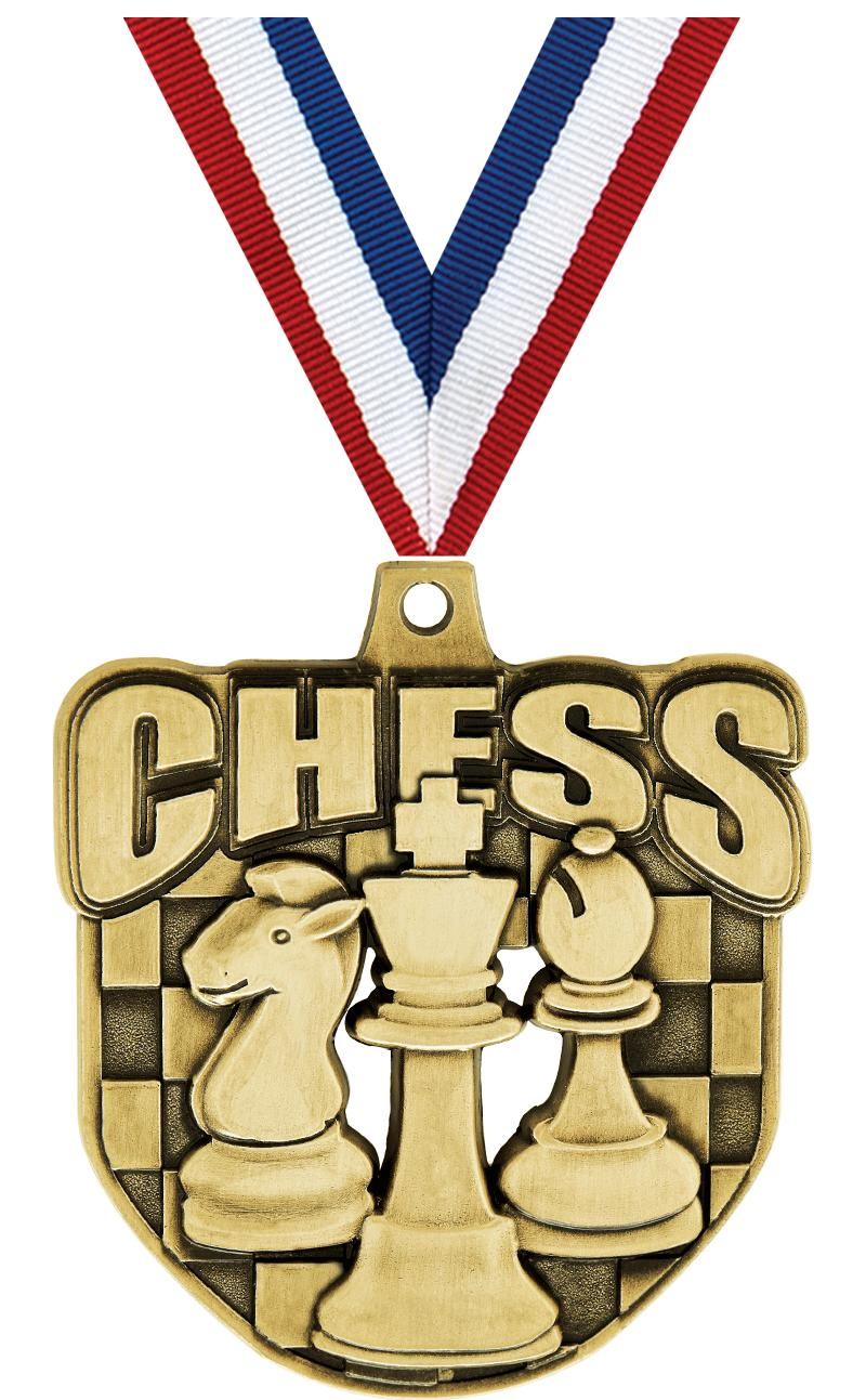 """2"""" ECLIPTIC CHESS GLD MDL"""