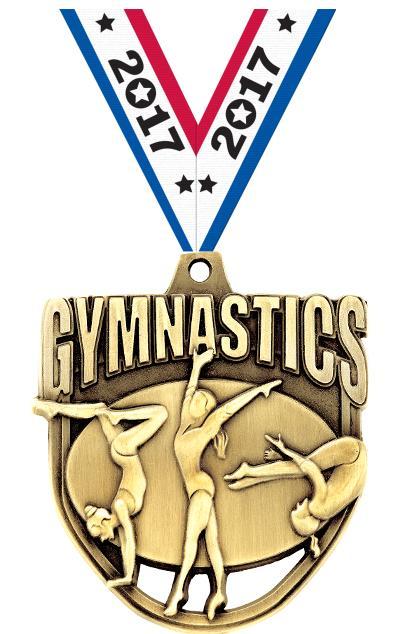"""2"""" Ecliptic Gymnastics Medal"""
